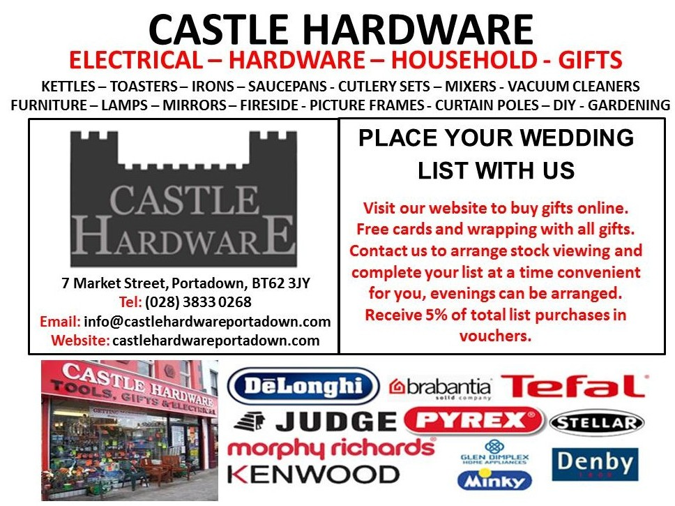 castle hardware wedding list handout jpg