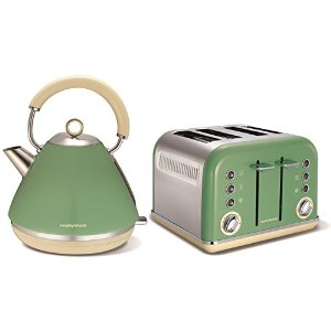 Morphy Richards 4 Slice Kettle and Toaster Sage Green