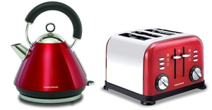 Morphy Richards Kettle and Toaster Red