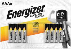 Energizer alkaline AAA x 8 7638900410662