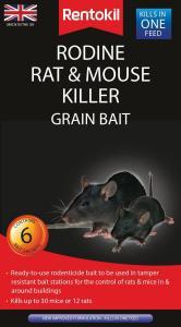 2094 Rentokil Rodine Rat & Mouse Killer Grain Bait x 6 Sachets_v